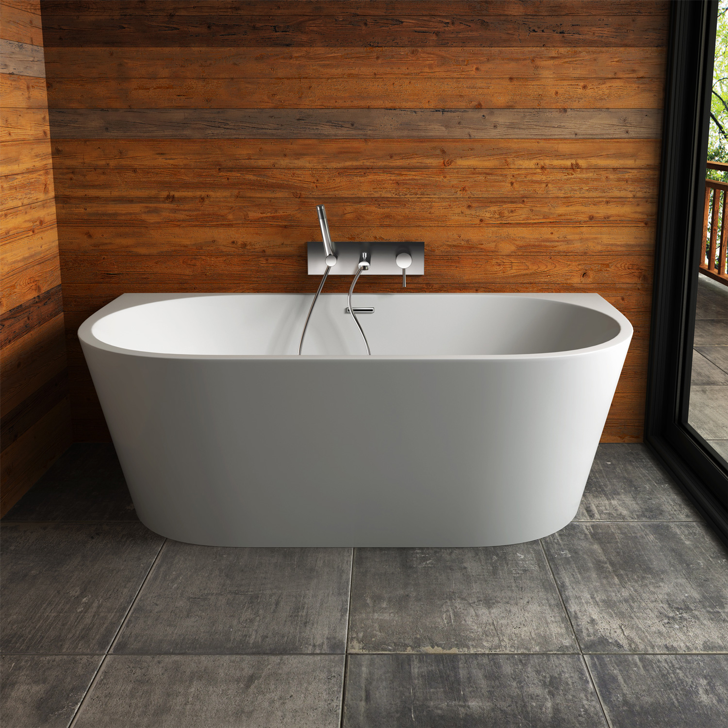 or acrylic with tub cheap look pairing complete this your mounted freestanding addition tubs l the ideal contemporary bathroom will bath filler a leith to wall by be