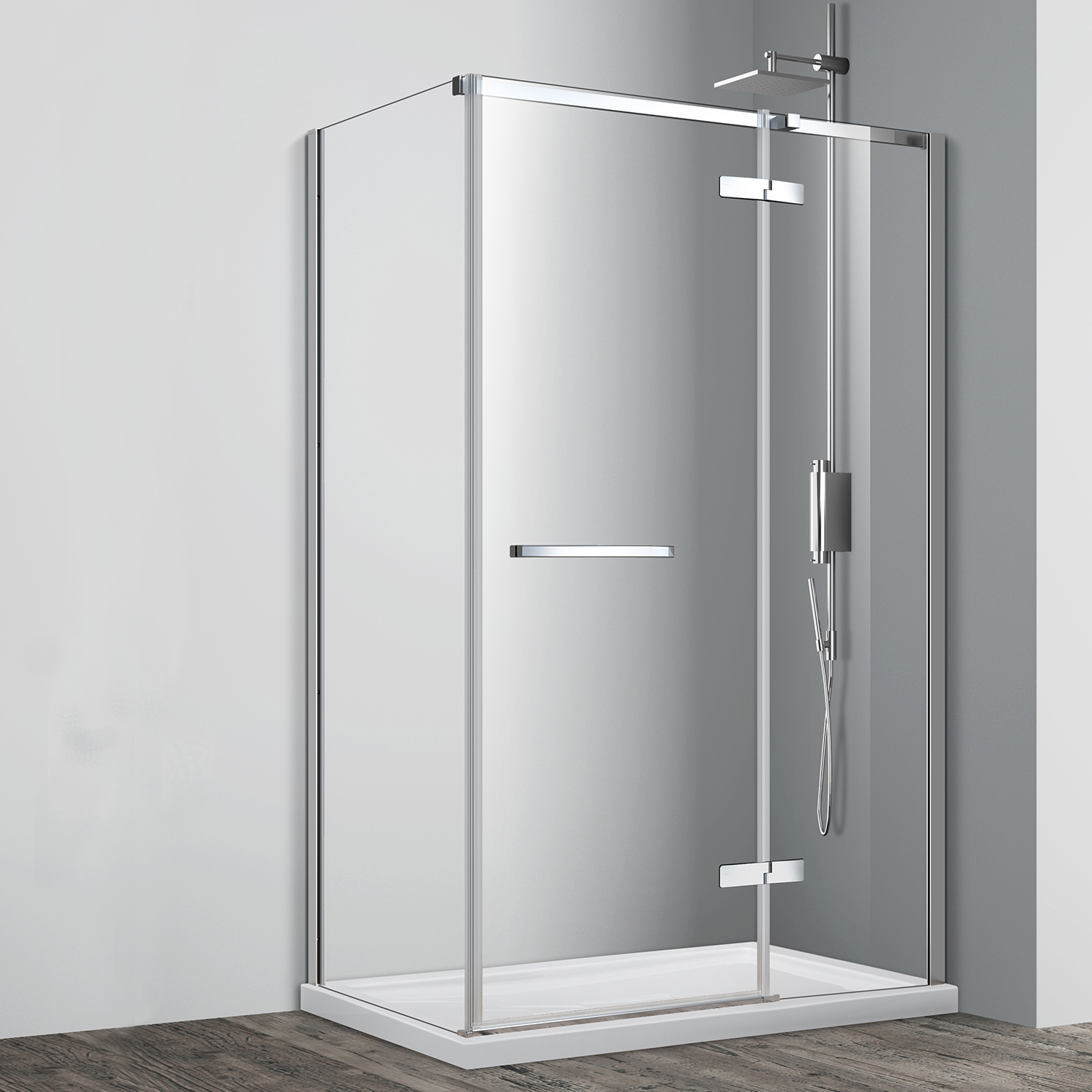 Cortez Hinged Double Threshold Shower Door Acritec Industries