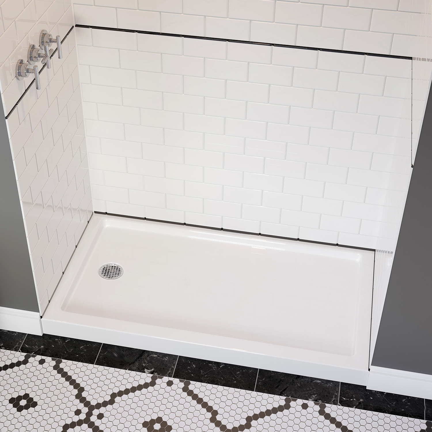 Low Profile Acrylic Shower Base Alcove Acritec Industries