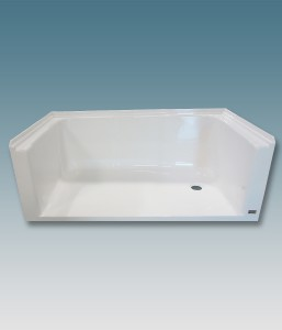 Barrier Free Shower Receptor Without Seats