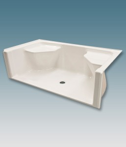 Barrier Free Shower Receptor With Seats