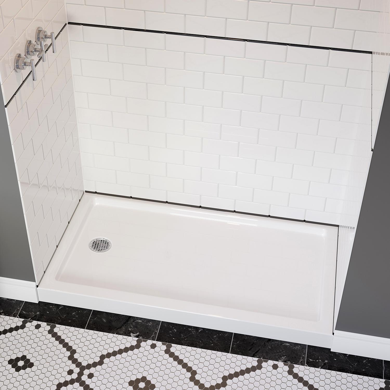 End Drain Low Profile Shower Base
